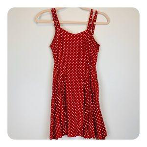 All That Jazz Vintage 90s Polka Dot Mini Dress E24
